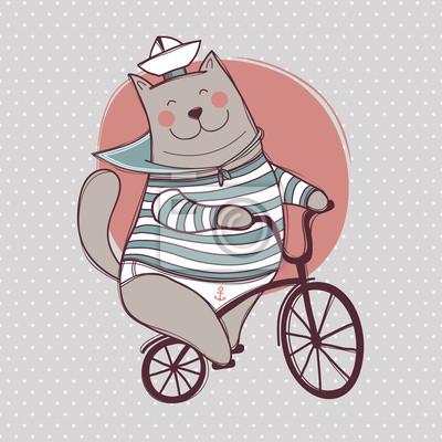 Katze und Fahrrad