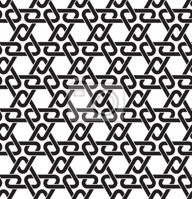 Bild Keltischen nahtlose Muster mit Farbfeld für die Füllung. Fashion geometrischen Hintergrund der schwarzen Linien.
