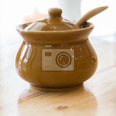 Bild Keramik Ton kleinen Topf zum Kochen oder den allgemeinen Gebrauch