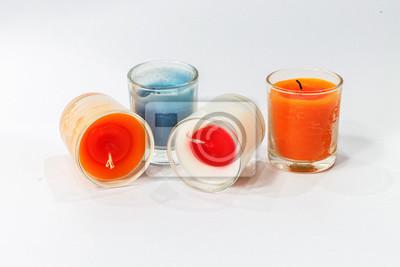 Kerze im Glas getrennt