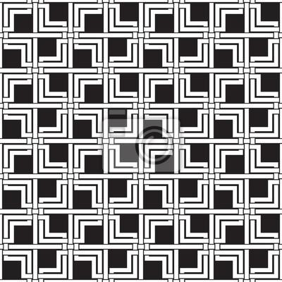 Kettenhemd aus sich kreuzenden Doppel Quadrate und Linien. Keltischen nahtlose Muster mit Farbfeld für die Füllung. Mode Hintergrund für Web oder Print-Design.