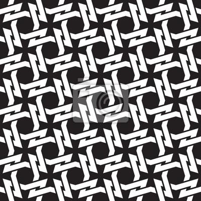 Bild Kettenhemd der Links in Form von Vier-Punkt-Dornen. Keltischen nahtlose Muster mit Farbfeld für die Füllung. Fashion geometrischen Hintergrund für Web-und Tattoo-Design.