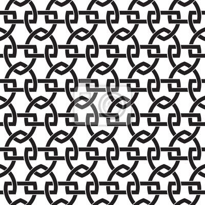 Kettenrüstung der Links in Form von Schilden. Keltischen nahtlose Muster mit Farbfeld für die Füllung. Fashion geometrischen Hintergrund für Web-und Tattoo-Design.