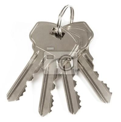Bild Keys isolated on white background.