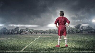 Bild Kid Boy auf Fußballplatz