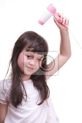 Bild Kind Mädchen Trockenhaar