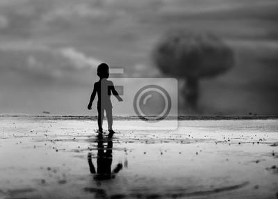 Bild Kind schaut auf einen Atomkrieg Folge
