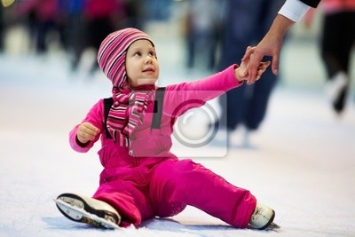 Kind schiefen skating