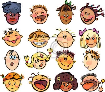 Bild Kinder-Gesichter.