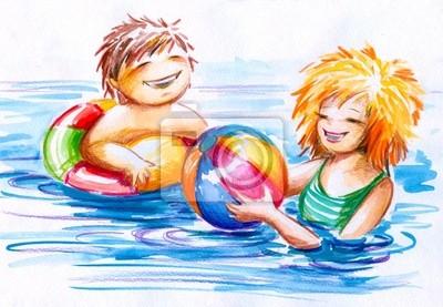 Kinder im Wasser.