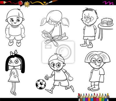 Kinder zeichen malvorlage seite leinwandbilder • bilder Färben ...