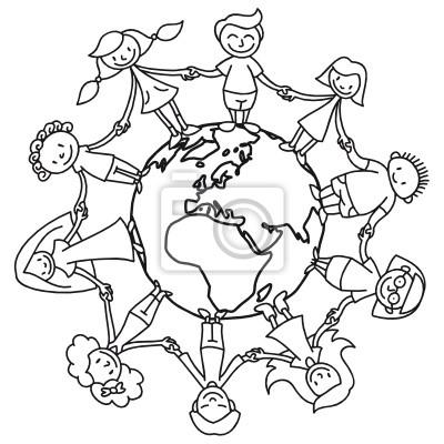Bild Kinderkreis Erde Ausmalbild