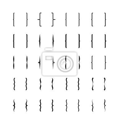 Bild Klammern und Klammern Symbole. Vector Klammern Zeichen, geschweiften Klammern Symbole gesetzt