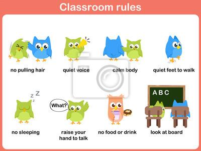 Klassenzimmer-regeln für kinder leinwandbilder • bilder Sonntag ...