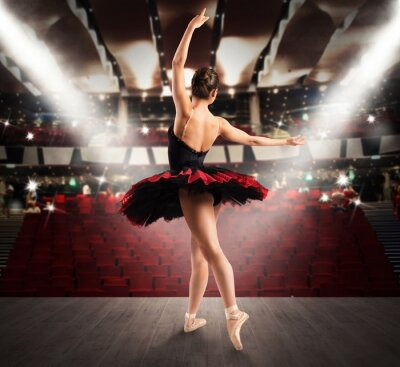 Bild Klassische Tänzerin im Theater