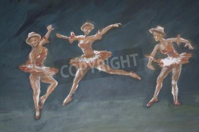Bild Klassische weibliche Ballett-Tänzer-Kunstillustration