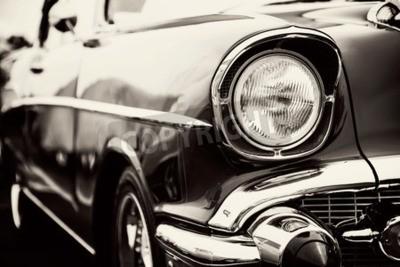 Bild Klassisches Auto mit Nahaufnahmen auf Scheinwerfern