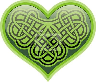 Kleeblatt Herz Keltisches Symbol Leinwandbilder Bilder Patrick