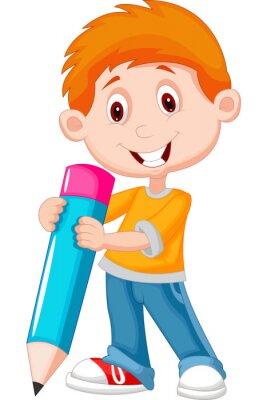 Bild Kleiner Junge mit Bleistift