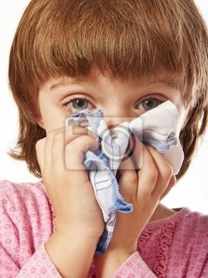 Bild kleines Mädchen mit Taschentuch