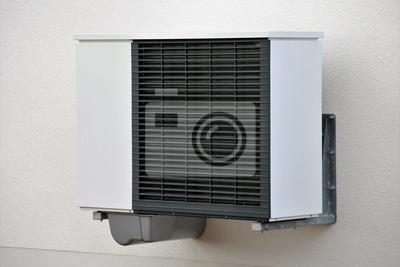 Klimaanlage Aussengerat An Einem Haus Leinwandbilder Bilder Moderne