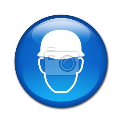Knopf glänzenden Helm verbindliche Sicherheits
