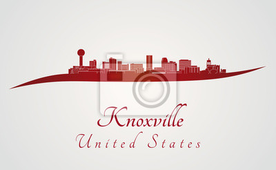 Bild Knoxville Skyline in rot