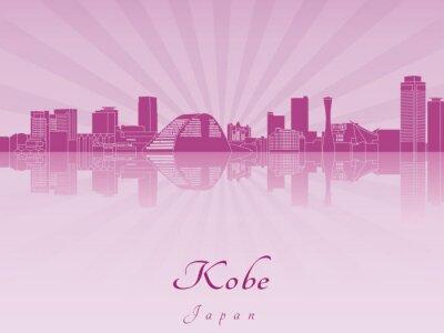Bild Kobe skylinein lila leuchtenden Orchideen