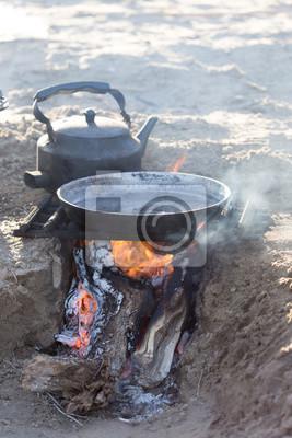 Bild Kochen auf die Natur des Einsatzes