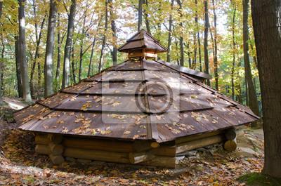 Kolyby Dach, hölzernes temporäres Gehäuse in Transkarpatien Transkarpatien