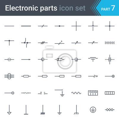 Komplette vektor-satz von elektrischen und elektronischen schaltplan ...