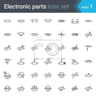 Kompletter vektor satz von elektrischen und elektronischen ...
