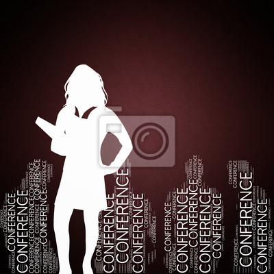 Bild Konferenz - Konzept mit der Silhouette einer Frau