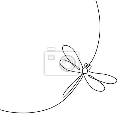 Bild Kontinuierliche Linienzeichnung. Schwarz-Weiß-Vektor-Illustration. Konzept für Logo, Karte, Banner, Poster, Flyer