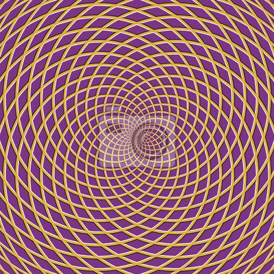 Konzentrischer optischer Täuschungshintergrund. Turbinierten karierten Hintergrund.