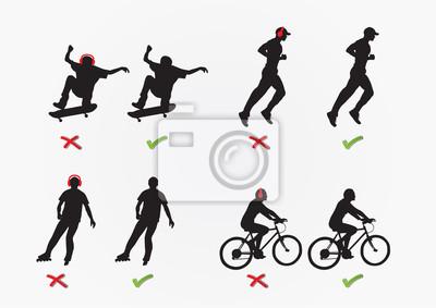 Konzept der Erholung / Skateboarden, Joggen, Skaten, c
