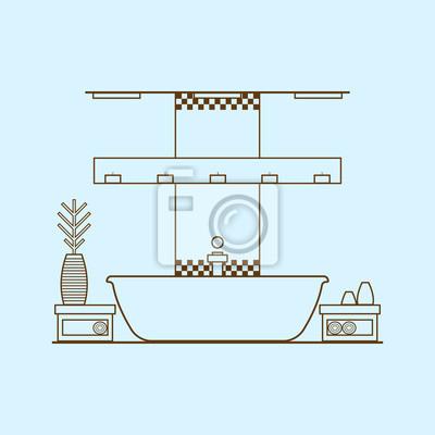 Uberlegen Bild Konzept Der Modernen Badezimmer Mit Utensilien, Möbel Und  Inneneinrichtung.