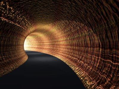 Bild Konzeptionelle abstrakte Straßentunnel mit Licht am Ende