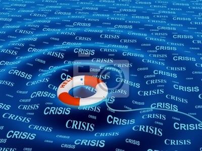 Konzeptionelle Bild - Hilfe in einer Krisensituation