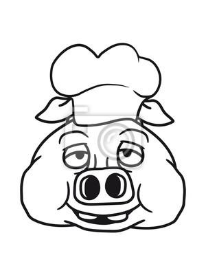 Kopf Gesicht Koch Kochen Grillen Bbq Chef Kuche Schurze Lecker