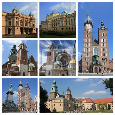 Krakau Polen Collage