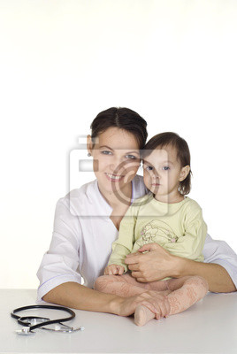 Bild Krankenschwester mit kleinen Mädchen