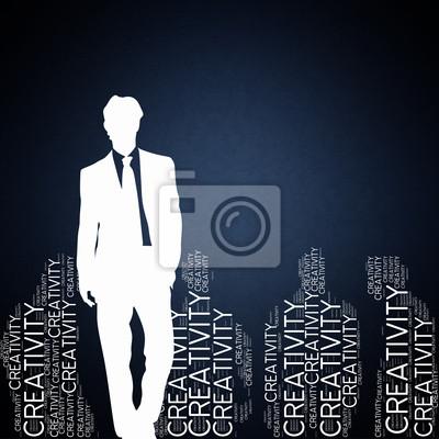 Bild Kreativität - Konzept Tapete mit Mann Silhouette