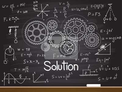 Bild Kreide Handzeichnung mit Lösungswort. Vektor-Illustration.