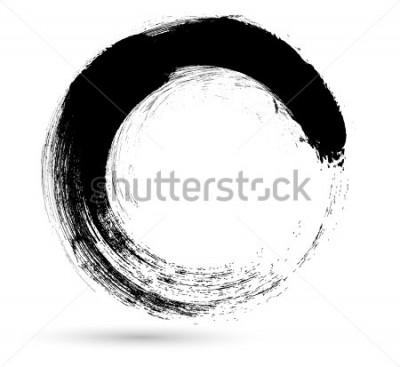 Bild Kreis-Pinselstrich. Vektor-Logo Design Template. Wirbeln Sie Grunge-Formen.
