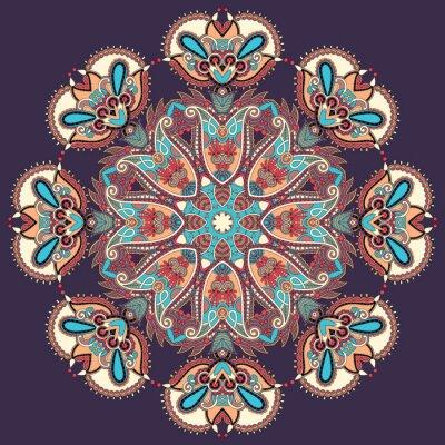 Bild Kreis Spitze Ornament, rund ornamentalen geometrischen Deckchen Muster