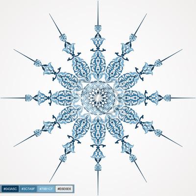 Kreis Spitze Rund Zier-Design 01