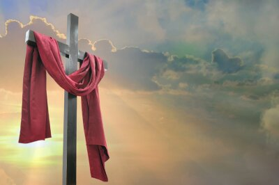 Bild Kreuz gegen den Himmel