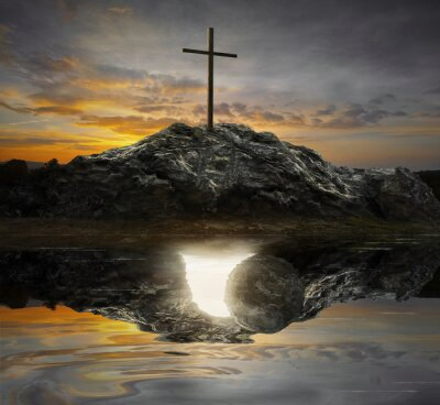 Bild Kreuz und leeres Grab