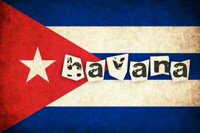 Bild Kuba Grunge Flagge Illustration des Landes mit Text